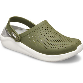 Crocs LiteRide Clogs, army green/white